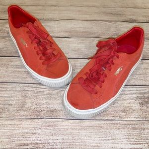 Puma Red Suede Sneakers Shoes 7.5